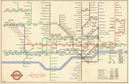 LONDON UNDERGROUND tube map plan diagram. Central Line extension. BECK #1 1946
